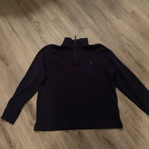 Navy Polo Ralph Lauren quarter zip sweatshirt